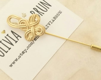 Celtic Knot Stick Pin Celtic Knot Lapel Pin Celtic Brooch Celtic Pin Celtic Jewelry Celtic Wedding Gold Brooch Gift For Her
