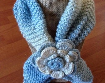 Baby blue neck warmer