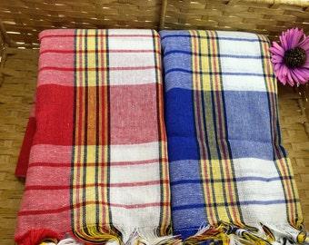 Peshtamal Towel Set - Turkish Towel Set - Couples Towels - 100% High Quality Cotton - Set of Two