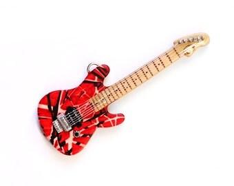 Guitar necklace Guitar jewelry Electric guitar pendant Music jewelry Custom necklace Guitarist gift Musicians pendant Men jewelry gift Music