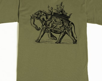 Elephant Shirt - Men's Mystic Elephant Tshirt - Graphic Tee - Men's T-shirt