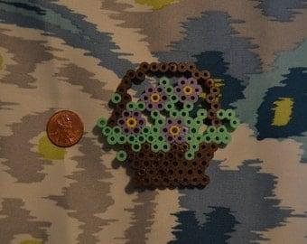 Little Flower Basket - Perler Art