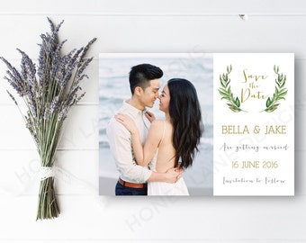 Personalised Printable, Save the Date, Printable Card - Bella Collection