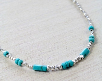 Karen Silver Turquoise Necklace