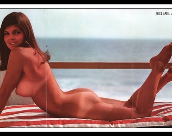 "Mature Playboy April 1966 : Playmate Centerfold Karla Conway Gatefold 3 Page Spread Photo Wall Art Decor 11"" x 23"""