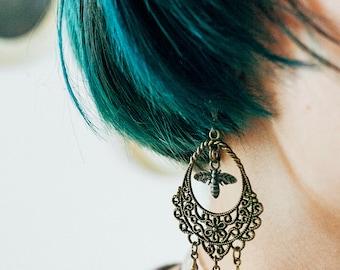 Bee chandelier earrings | Two versions