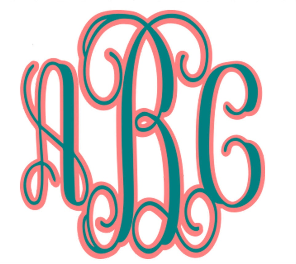 vine interlocking monogram svg shadow alphabet by jencraftdesigns