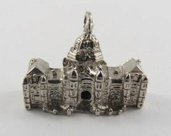 Parliament Building Victoria British Columbia Sterling Silver Vintage Charm For Bracelet