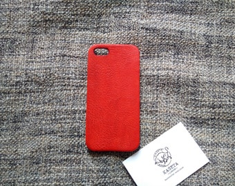 iPhone SE 5s leather case 'Red'