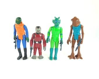 Star Wars Cantina Action Figure Set - Walrus Man - Snaggletooth - Greedo - Hammerhead