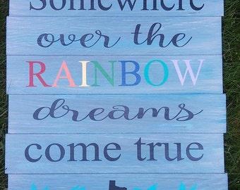 Somewhere over the rainbow- Rainbow baby sign