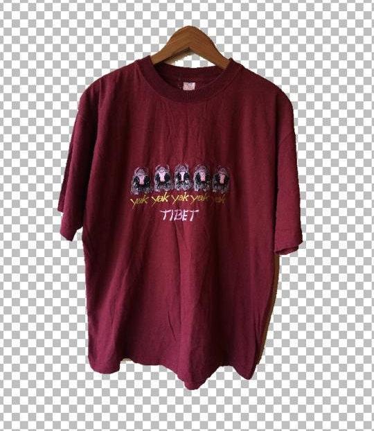 Large tibet yak t shirt nepal