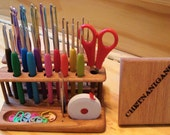 "SlimLine ""Twin"" Crochet Hook Organizer Workstation ***NEW FROM CHETNANIGANS!!!!***"