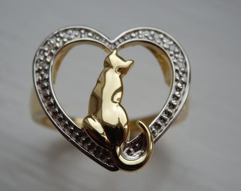 Thinking of You Adjustable Cat Ring