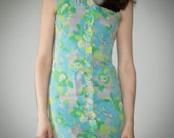Super cute 1960s mod mini dress. Size extra small/small