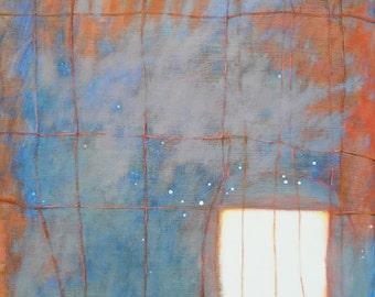 Expressionism, Abstract art, Modern Art, Identity, Feminism, Fine Art, Original Art, Blue and orange, Abstract Expressionism
