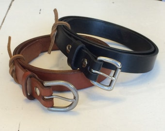 "1"" English Bridle Full Grain Leather Belt"