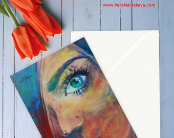 """Set of Stationery Cards (folded) """" Can You See Me """""""