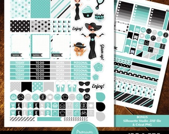 Fashion Stickers, Fits Erin Condren Planner Stickers, Silhouette Stickers, Printable Planner Stickers, Decorative Stickers - ST190