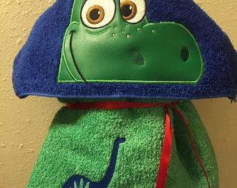Dinosaur Hooded Towel - Towel - Hooded Towel - childs hooded towel - bath Towel - REDROCKCRAFTSWY