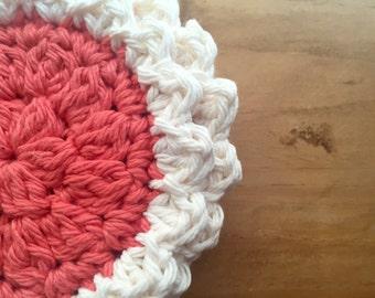 Cotton Crochet Face Scrubby
