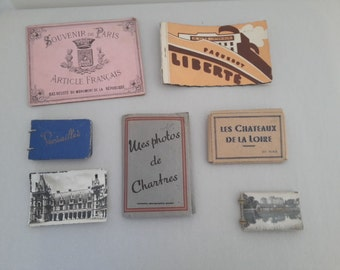 vintage french photo books and photos / album cards / memories book