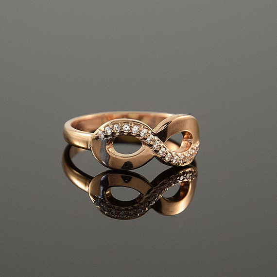 infinity ring gold infinity ring promise ring by