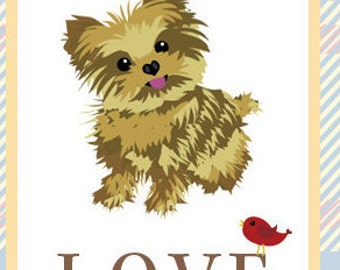 Love Greeting Card - Featuring Puppy
