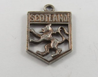Scotland Coat of Arms Sterling Silver Charm or Pendant.