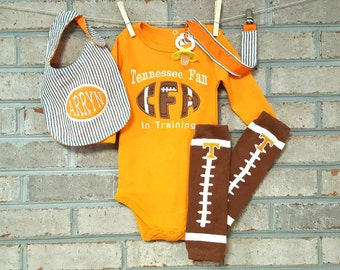 Baby Onsie | Tennessee Onesie | Football Leg Warmer | Football | Baby Boy |Baby Girl | Baby Shower Gift | Boys Clothes | UT Baby | Vol Baby