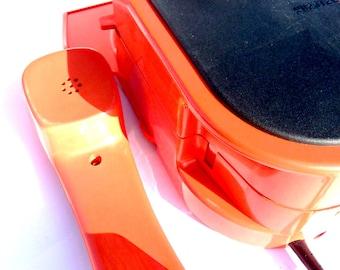 YUROTEL - orange wall phone from Yugoslavia
