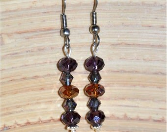 Amethyst and Topaz Dangle Earrings