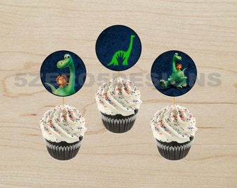 The Good Dinosaur Cupcake Toppers, The Good Dinosaur Party, The Good Dinosaur Birthday Party, DIGITAL DOWNLOAD