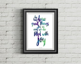 Psalm 126:3 | Art Print
