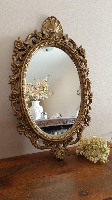 Vintage Ornate Oval Mirror Mirror Wall decor Home Decor