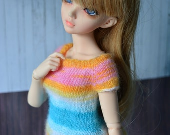 BJD shirt for minifee MSD 1/4 bjd dolls in rainbow