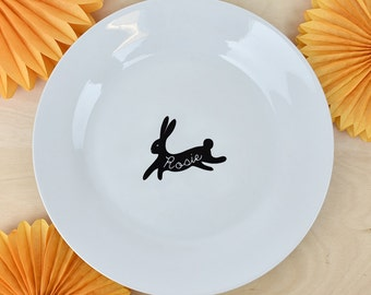 Easter plate etsy easter personalised bunny dinner plate easter plate easter dinner easter gifts easter negle Gallery