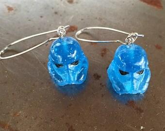 resin cast storm-trooper earrings
