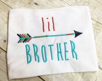 Brother Design Pack - Big Brother, Middle Brother, Little Brother Applique Arrow Embroidery Design Instant Download - 0245d
