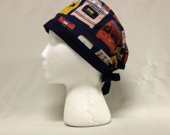 Navy Vintage Ovens Kitchen Surgical Scrub Cap Chemo Dentist Hat
