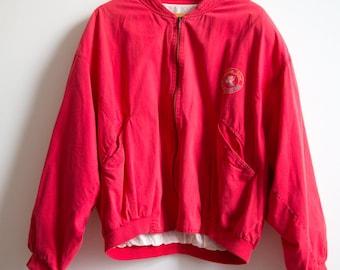 Vintage 80's Women Red Paradise Island Jacket size M