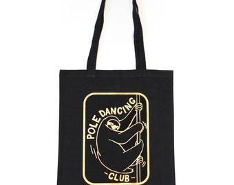 Golden sloth tote bag