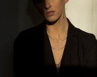 Multi chain Pendant, Short Necklace