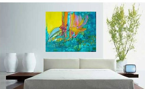 large abstract painting living room abstract art master