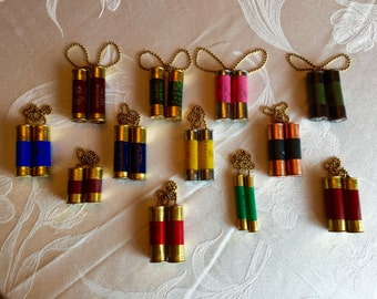 Double Capped Shotgun Shell Chain Pulls (Made to Order)
