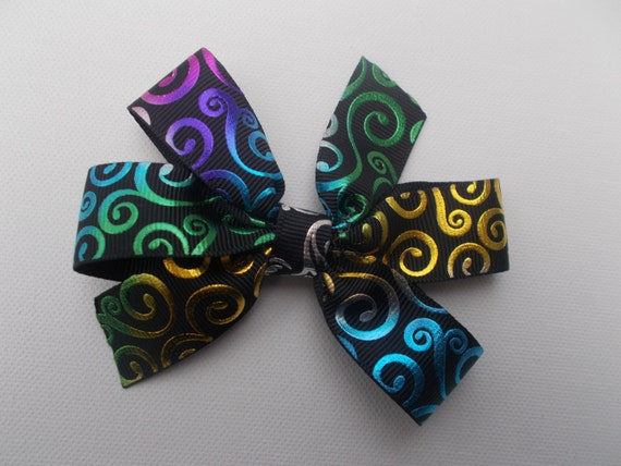 Multicolor Foil Stamped Hairbow
