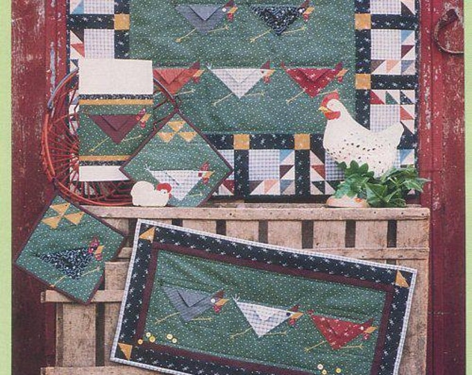Free Us Ship Button Weeds 1994 We're Chicken Farm Barn Barnyard Whimsy Quilt Craft Sewing Pattern