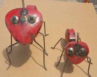 Red Metal Fire Ants