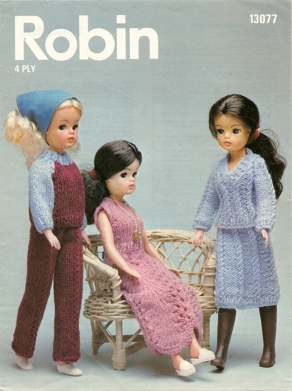 Knitting Patterns For Sindy Dolls : Knitting Pattern Sindy Doll Outfit Party Dress Trouser Suit 4