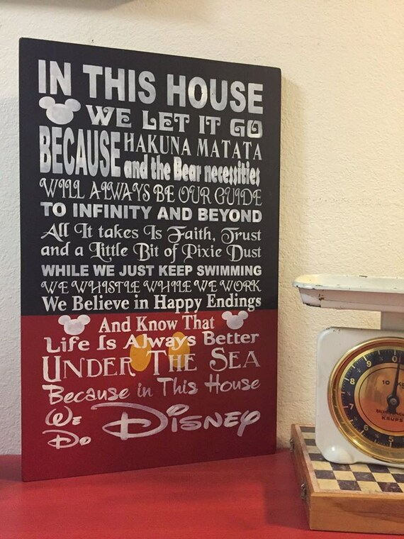 In This House We Do Disney Wooden Sign